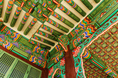 Korean painting traditional architecture Stock Photos