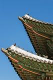 Korean Palace Ancient Roof Dancheong Royalty Free Stock Photo