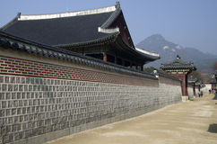 Korean Palace architecture Gyeongbokgung Royalty Free Stock Photo