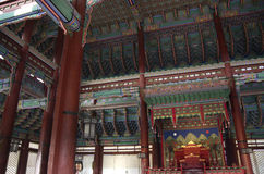 Korean Palace architecture Gyeongbokgung Royalty Free Stock Photography