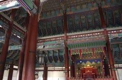 Korean Palace architecture Gyeongbokgung Royalty Free Stock Photography