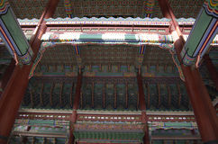 Korean Palace architecture Gyeongbokgung Royalty Free Stock Photo