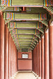 Korean Palace Corridor Royalty Free Stock Photo