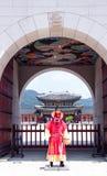 Korean Palace Door Guard Stock Photos