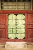 Korean Palace Door Stock Photo