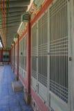 Korean palace - interior corridor Royalty Free Stock Photo