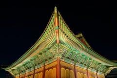 Korean palace at night Royalty Free Stock Photos
