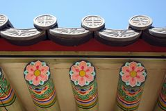 Korean palace roof Stock Image