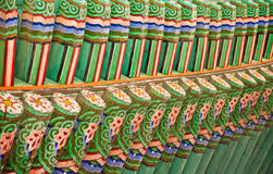 Korean Palace roof. Stock Photography