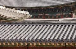 Korean Palace Roof Abstract Stock Photos