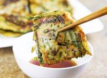 Korean Pancake Dinner Royalty Free Stock Images