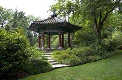 Korean pavilion garden Stock Photo