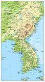 Korean Peninsula Map, Map Of North And South Korea Stock Photography