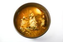 Korean Pork Bone and Potato Soup. Gamjatang Stock Photo