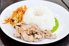 Korean pork rice,fried pork with rice,pork with rice Stock Photography
