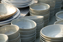 Korean Pottery Dishes Royalty Free Stock Photo