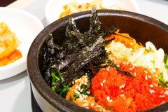 Korean rice with vegetable Stock Photos