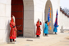 Korean Royal Guards Royalty Free Stock Image