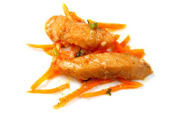 Korean Salad of fish Royalty Free Stock Photo