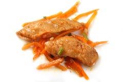 Korean Salad of fish Royalty Free Stock Photos
