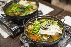 Korean Seafood Hotpot Stock Photos