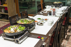 Korean Seafood Hotpot Royalty Free Stock Photos
