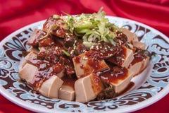 Korean side dish called dotori-muk. Royalty Free Stock Photo