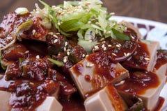 Korean side dish made from acorns. Stock Photos