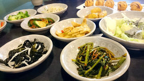 Korean Side Dishes Royalty Free Stock Photos