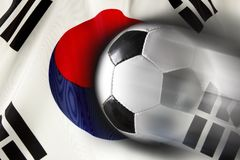 Korean Soccer Royalty Free Stock Photography