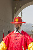 Korean soldier costume vintage around Gyeongbokgung palace Stock Photo