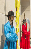 Korean soldier costume vintage around Gyeongbokgung palace Stock Images