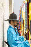 Korean soldier costume vintage around Gyeongbokgung palace Royalty Free Stock Images