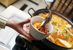 Korean soup Royalty Free Stock Image
