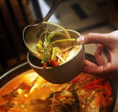 Korean soup Royalty Free Stock Photography