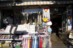 Korean souvenir store hanbok hanji brush Royalty Free Stock Images