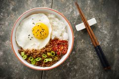 Korean Soy Beef Bowl royalty free stock photography