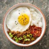 Korean Soy Beef Bowl stock photo