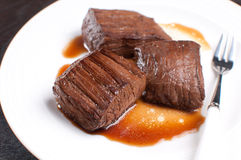 Korean soy sauce beef steak Stock Photography