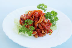 Korean spicy salad Royalty Free Stock Images