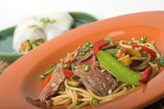 Korean stir-fry. Korean beef stir fry royalty free stock images