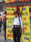 Korean Street Evangelist. A man evangelizes on the streets of Seoul Stock Images