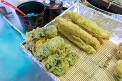 Korean street food fried vegetables Royalty Free Stock Image