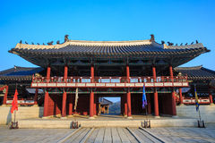 Korean of style castle architecture. The Gate is Korean style architecture Stock Photography