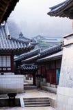 Korean style castle. A one korean style castle Royalty Free Stock Photo