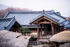 Korean style castle. A one korean style castle Royalty Free Stock Photography
