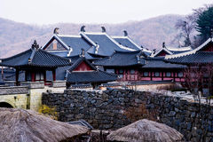 Korean style castle. A one korean style castle Royalty Free Stock Images