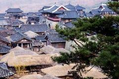 Korean style castle. A one korean style castle Stock Photos