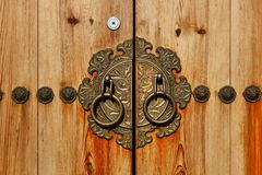 Korean style door Royalty Free Stock Images