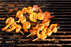 Korean style jumbo shrimp barbeque Royalty Free Stock Image